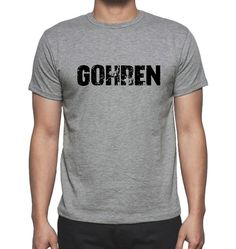 GOHREN, Grey, Men's Short Sleeve Rounded Neck T-shirt