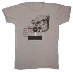 Polaroid Chimp Tee | Gnome Enterprises