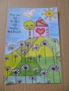"""Daisy dreams - hand drawn thanks to @Stephanie Ackerman """"A Whole New Doodle 2012"""" class, promarkers and stamps by Marion Emberson"""