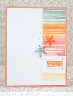 Star Bright Card by Nichole Heady for Papertrey Ink (April 2014)