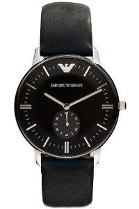Armani Classic Leather Black Dial Men's Watch #AR0382 Armani. $291.00. Black Leather Strap. Analog Display