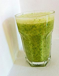 "Smoothie of the day: ""groene smoothie"" met peer, banaan en rucola"
