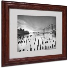 Trademark Fine Art Palimpsest Matted Framed Art by Geoffrey Ansel Agrons, Wood Frame, Size: 16 x 20, Brown