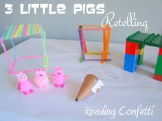 The 3 Little Pigs Retelling ~ Reading Confetti Kids Nursery Rhymes Songs, Third Grade Science, Physics Classroom, Barnyard Party, Forensic Anthropology, Developmental Psychology, Preschool Lesson Plans, Three Little Pigs, Materials Science