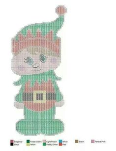 Christmas costume 3 Plastic Canvas Ornaments, Plastic Canvas Crafts, Plastic Canvas Patterns, Xmas Ornaments, Christmas Elf, Christmas Crafts, Christmas Patterns, Christmas Stuff, Christmas Decorations