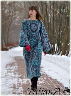 """Купить Вязаное платье """"Kaleidoscope Next """" - авторская ручная работа, ручная работа"""