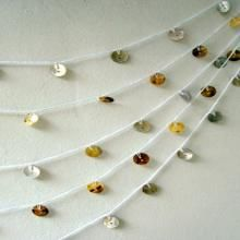 Vintage button garland - cool photo booth backdrop for a wedding!