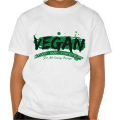 Vegan Peace Love Compassion T Shirt