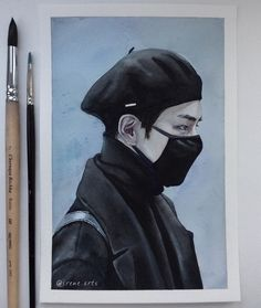 Bts Art, Taehyung Fanart, Kpop Drawings, Polychromos, Kpop Fanart, Art Sketchbook, Aesthetic Art, Bts Wallpaper, Art Inspo