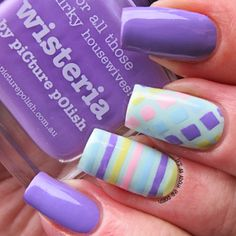 It's all about the polish: Pastel Nail Art