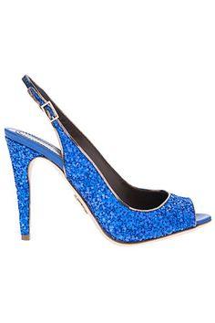 shiny blue sequins