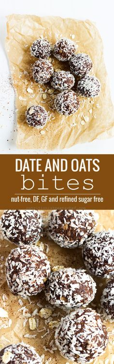 Date and Oat Chocolate Bites! You'll never be able to tell that these are completely refined sugar free! See more at nutritionistmeetschef.com