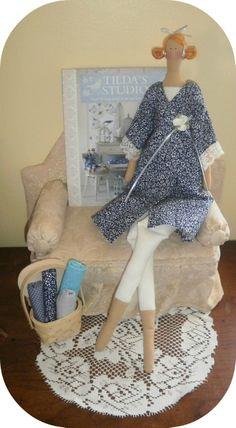 tilda doll blue. Design handmade dolls.  https://www.etsy.com/shop/littlesbyBella   #Dolls #and #Miniatures #human #Figure #Doll  #Rag #Doll #tonne #finannanger  #tildapatterns #tildaclothes #fabricdoll #tilda #doll #hair #handmade #doll #famous  #dolls #plush  dolls #fabridoll #cute #tilda #unique #doll #fairy #tilda #doll # pretty#doll
