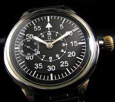Omega 30年代オメガドイツ空軍アンティーク時計パイロットOH済 Watch Antique ¥125000yen 〆11月16日