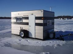 Let's See Those Shacks! Ice Fishing Shanty, Ice Shanty, Ice Fishing Tips, Fishing Stuff, Ice Fishing House, Fishing Shack, Horse Trailers, Camping Trailers, Ice Houses