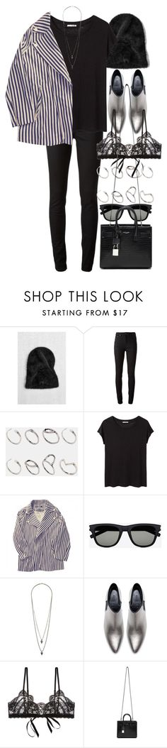 """""""Untitled #9790"""" by nikka-phillips ❤ liked on Polyvore featuring Acne Studios, ASOS, Zara, Yves Saint Laurent, Wallis and Hanky Panky"""