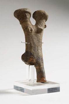 Statuetta fittile bicefala