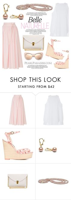 """Pretty in pink by Pearl Paradise"" by pearlparadise ❤ liked on Polyvore featuring MDS Stripes, Sophia Webster and STELLA McCARTNEY"