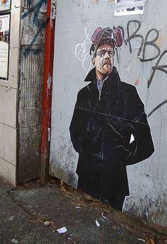 Heisenberg Street Art, by Anonymous Graffiti Artist