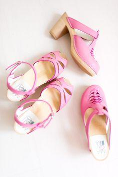 Rio pink & Nairobi pink clogs from Maguba