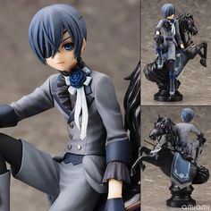 Black Butler Book of Circus Kuroshitsuji Ciel PVC Action Figure Collectible Model Toy 18cm KT052
