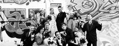 Graffiti wedding party