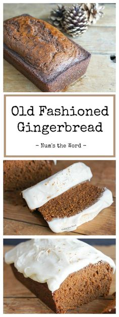 This Old Fashioned Gingerbread has been passed down through the generations and is a family favorite! Make it into a bread for breakfast or a cake for dessert, its perfect all day long! This copycat version of Starbucks Gingerbread will have you skipping Christmas Bread, Christmas Desserts, Christmas Breakfast, Baking Recipes, Cake Recipes, Dessert Recipes, Recipes Dinner, Casserole Recipes, Pasta Recipes