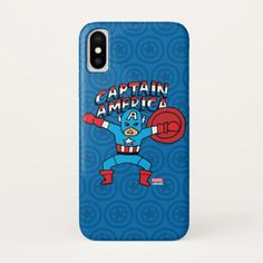 Pop Captain America with Logo iPhone X Case - diy cyo customize create your own personalize