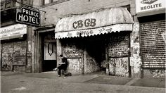 """CBGB OMFUG. Closed October, 2006.  """"The question most often asked of me is, 'What does CBGB stand for?' I reply, 'It stands for the kind of music I intended to have, but not the kind that we became famous for: COUNTRY BLUEGRASS BLUES.'  The next question is always, 'but what does OMFUG stand for?' and I say 'That's more of what we do, It means OTHER MUSIC FOR UPLIFTING GORMANDIZERS.' And what is a gormandizer? It's a voracious eater of, in this case, MUSIC."""" - Hilly Kristal, owner and…"""