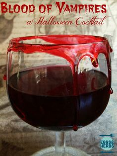 Blood of Vampires - a halloween cocktail