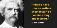 Mark Twain Quote on communication and writings