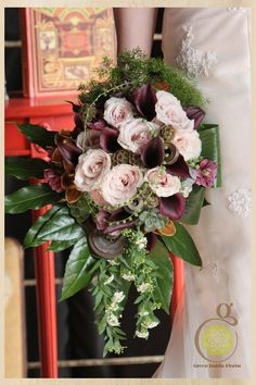 """""""traditional"""" bouquet with steampunk influences. Photo by Jewel Photo"""