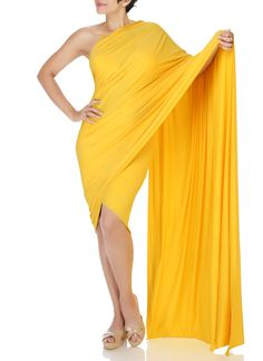 Mandira Bedi   Yellow Mini Lycra Saree   Shop Sarees at strandofsilk.com