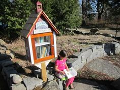 ohhhh goodness, how I would love to build a Little Free Library for my neighborhood (or my school) for the summer...
