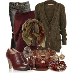 Olive Cranberry, created by michelle-hersh-wenger on Polyvore