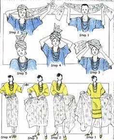 comment faire un n ud de foulard antillais cr ole ou martiniquais noeuds de foulard. Black Bedroom Furniture Sets. Home Design Ideas