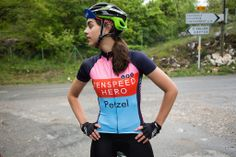 There are three names on this women's jersey. The first is Les Petites Victoires (LPV), the second is Tenspeed Hero and the third is Petzel. Cycling Jerseys, Cycling Shorts, Cycling Outfit, Cycling Clothes, Cycling News, Buy Bike, Bicycle Maintenance, Hair And Beard Styles, Cycling Equipment