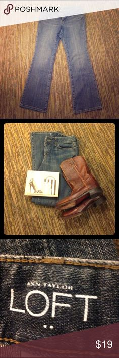 Ann Taylor Loft Original Bootcut Jeans Love these jeans! I own a couple pair! These are in great condition! Ann Taylor Jeans Boot Cut