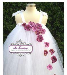 Tutu Dress, Flower Girl Tutu Dress, 0 to 24m, Tulle Dress, Photo Prop Tutu, Childrens Toddler Infant Tutu, Custom Tutu, white. $65.00, via Etsy.