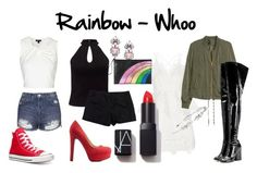 Rainbow - Whoo by luhunnie on Polyvore featuring polyvore fashion style self-portrait Topshop Miss Selfridge Theory Marc Jacobs Converse Charlotte Russe RED Valentino Erickson Beamon Wedding Belles New York NARS Cosmetics clothing
