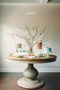 How to create an edible sugar cookie easter egg tree. Includes recipes + sources to pull off this easy dessert table decor for your easter celebration. Easter Deserts, Easy Easter Desserts, Easter Table, Easter Party, Easter Buffet, Hoppy Easter, Easter Eggs, Easter Food, Easter Bunny