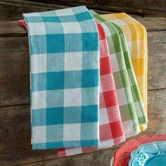 The Pioneer Woman Charming Check Kitchen Towel Set, 4pk - Walmart.com