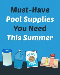 Do you have everything you need to take care of your pool? If you don't have these few essentials, your pool maintenance is a lot harder than it has to be. Diy Pool Toys, Swimming Pool Equipment, Swimming Pool Maintenance, Pool Hacks, Pool Images, Pool Care, Backyard Pool Designs, Pool Accessories, Pool Supplies