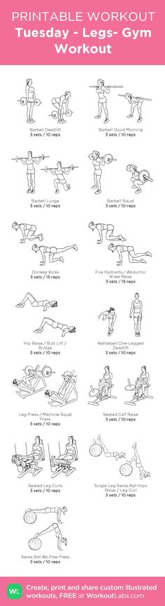 Tuesday - Legs- Gym Workout - Fitness Tips Gym Workouts, At Home Workouts, Gym Workout Plans, Gym Machine Workouts, Leg Machine Workout, Weekly Workouts, Workout Machines, Fitness Studio Training, Fitness Motivation