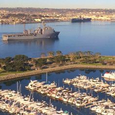 Sitting on our balconies, watching the boats go by. That's the ultimate #SanDiego! (Photo by Dwayne Wimmer)
