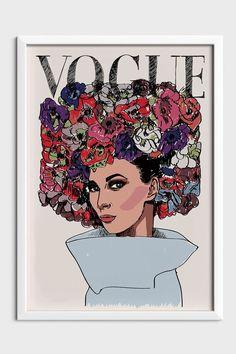Vintage Art Prints Fashion Illustrations Vogue Covers 44 New Ideas Art Deco Fashion, Fashion Prints, Fashion Vintage, Cool Art Drawings, Easy Drawings, Vintage Vogue Covers, Big Canvas Art, Sketchbook Layout, Art Nouveau Illustration