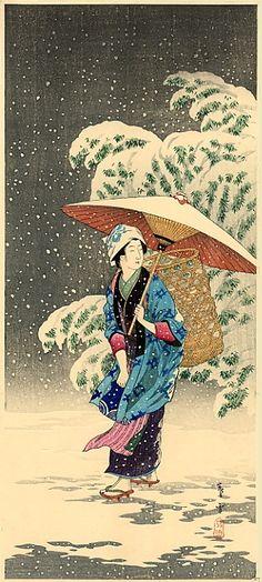 """Shotei - """"Spring Snow"""" -"""