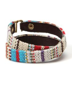 Look what I found on #zulily! Cool Baja Stripe Wrap Bracelet #zulilyfinds