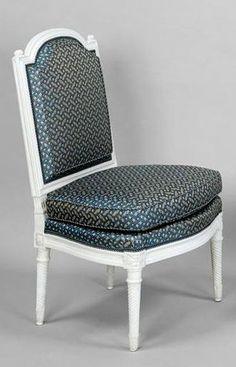Deux chaises livrées en 1784 pour le grand salon de Mesdames Adélaïde et Victoire