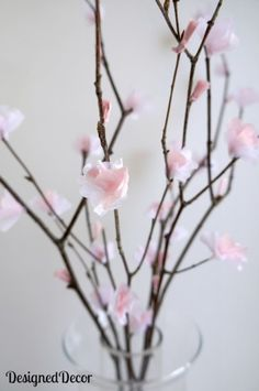 Paper Flowers with tissue paper. Perfect to add color to your home in the Spring season.